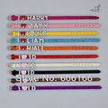 10pc/lot 1D I Love One Direction Super Star Glitter Spark Leather Bracelet Slider Crystal Letters Charm DIY Wristbands Fashion