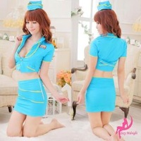 Sexy stewardess uniforms female police uniform ol career ds costume set cosplay