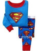 Pajama Set In Stock  7269 Children Cartoon Long Sleeve Pajama Retai 6sets/lot  Baby Sleeppants +long sleeve Underwears sets