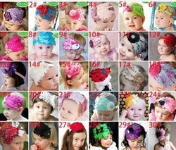 New Style Beautiful Feather Headband hairband Baby Girls flowers headbands,kids' hair accessories Baby Christmas gift(China (Mainland))
