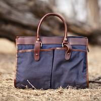2014 free shipping Oil leather shoulder handbag cross-body encryption canvas casual handbag vintage casual laptop bag for men