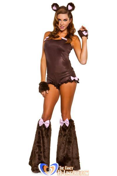 Free Shipping Sexy Brown Teddy Bear Costume for Adults Cosplay Halloween Costume wholesale HL1348(China (Mainland))