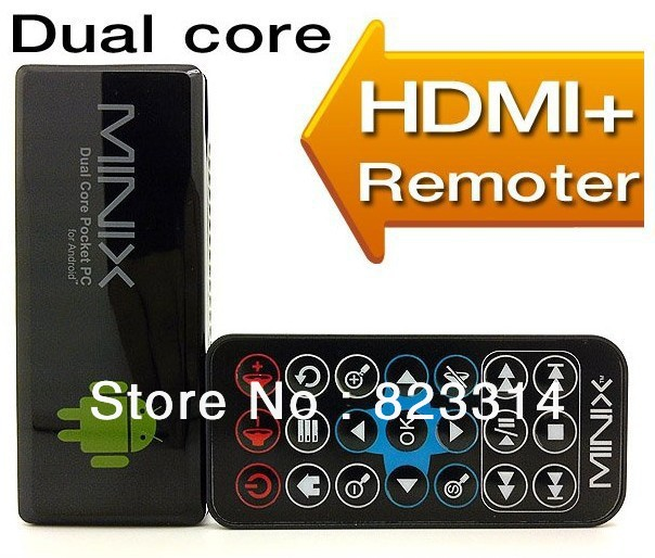 NEW 100% Original RK3066 Cortex A9 Dual Core TV Box BMINIX NEO G4 Android Mini PC TV Stick with Remote Control 1 Year Warranty(China (Mainland))