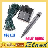 solar string lights holiday lighting 100 LED 17 M free shipping