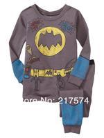 2pcs Pajama Set 7271 In stock Children Cartoon Long Sleeve Pajama Retai 6sets/lot  Baby Sleeppants +long sleeve Underwears sets