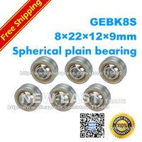 Free Shipping 1lot(4pcs) GEBK8S  radial spherical plain bearing with self-lubrication