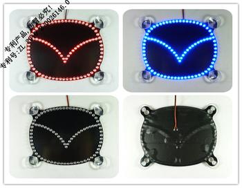 LED Auto Brake Light Logo For Mazda Car Stop Light LED Vehicle Tail Lamp Logo. Windshield Logo Light Chip. Free Ship By HK Post