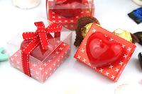 2013 New FREE SHIPPING Heart Shape Art Candle For Wedding Favor Chirstmas gift Home Decoration