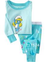 Child Cartoon Pajama Set 7284 In stock Children Cartoon Long Sleeve Pajama Retai Baby Sleeppants +long sleeve Underwears sets