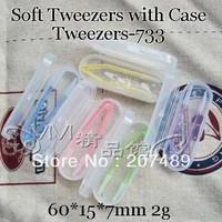 Soft contact lens lenses Holding plastic Tweezer holder 6cm case Tweezers