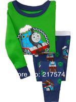 Pajama Set In Stock 7196 Children Cartoon Long Sleeve Pajama Retai 6sets/lot  Baby Sleeppants +long sleeve Underwears sets