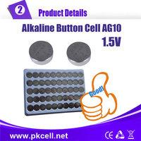 1000PCS/lot PKCELL AG10 LR1130 1.5V Alkaline Button Cell Battery , ag10 button battery