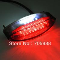 LED motorcycle lights Smoke Motorcycle 28 LEDs Red License Plate Brake Tail Light  moto