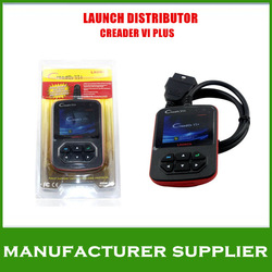 Lowest price 2013 A+++ quality Professional OBD2 Auto Code Reader 100% Original Launch Creader 6 CReader VI+ plus Free Shipping(China (Mainland))