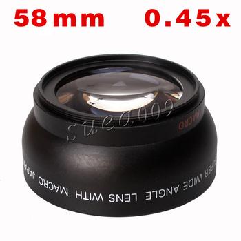 0.45X 58mm Wide Angle Lens for Canon 550D 400D 450D 500D 600D 1000D 58mm Thread