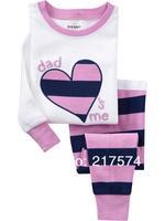 Child Cartoon Pajama Set 7217 In stock Children Cartoon Long Sleeve Pajama Retai Baby Sleeppants +long sleeve Underwears sets