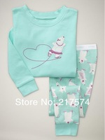Child Cartoon Pajama Set 7176 In stock Children Cartoon Long Sleeve Pajama Retai Baby Sleeppants +long sleeve Underwears sets
