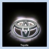 Toyota FORTUNER  LED Car Decal Logo Tail Light Badge Emblem Sticker Lamp White Light