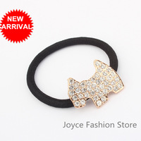 Min Order $10,Fashion Jewelry 2013 Gold  Little Horse Rhinestone Hair Accessories Fold Over Elastic For Headbands,Jewelry