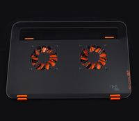 Full-body metal dual fan laptop cooling pad base pad fan