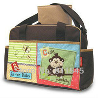 Baby Fisher Price Cute Monkey Nappy Changing Bags Mummy Multifunctional Mom Bags for Diapers Maternity Mother Fashion Handbag