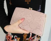 Fashion buckle Serpentine long size clutch PU leather women Wallet Ladies Purse girl Handbag drop shipping WBG0273