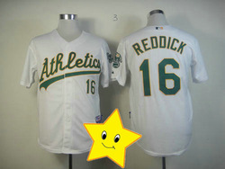 Fast Shipping Oakland Athletics Josh Reddick Jersey white #16 cheap cool base jersey 2013 Baseball jersey wholesale t shirt(China (Mainland))