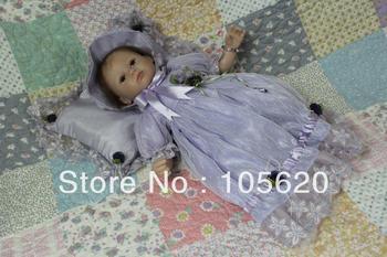 "16"" Reborn baby dolls Silicone vinyl doll Soft Toys handmade Fashion dolls for girls cute unique toys"