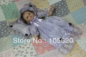 "Free shipping 16"" Reborn baby dolls Silicone vinyl doll Soft Toys handmade Fashion dolls for girls cute unique toys"