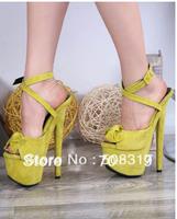 Free shipping 2013 brand GZ sandals Stiletto heel sandals bowtie platform women high heel shoes