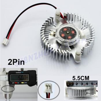 55mm Aluminum Cooling Fan Heatsink Cooler for PC Computer CPU VGA Video Card 3PCS/LOT FREE SHIPPING FS001