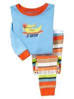 Child Cartoon Pajama Set 7304 In stock Children Cartoon Long Sleeve Pajama Retai Baby Sleeppants +long sleeve Underwears sets