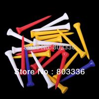 Free Shipping 100Pcs 69mm Random Color Plastic Golf TEES
