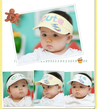 2013 Hot Sale Free Shipping Infant Baby Girl Beach Sun Hat Summer Lovely Girl's Cap Newborn Princess Sunhat