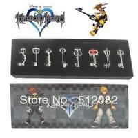 8PCS Kingdom Hearts II KEY BLADE Sora Necklace Keyblade Pendant Set New   Gift  Free Shipping