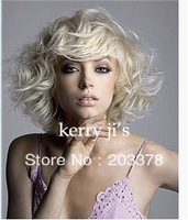 Top quality Latest Lovely Short Hairstyle Trend Short Cruly Wig  for women / lady /girl 10pcs/lot mix order