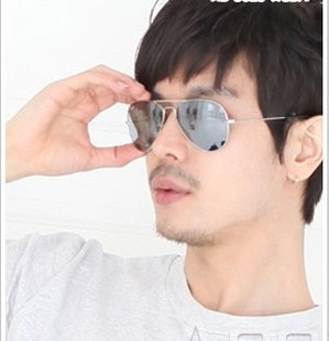 Mirror reflective 3025 sunglasses sun glasses classic large glass reflective lens sunglasses
