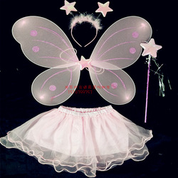 Five-pointed star butterfly costume wings set piece 4(China (Mainland))