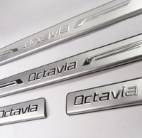 Skoda Octavia car stainless steel scuff plate door sill 4pcs/lot car accessories for Octavia