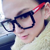 2012 big box mosaic glasses frame eyeglasses frame Women male glasses frame non-mainstream