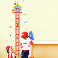Free shipping ,assembled size  60*32cm, baby cartoon ruler,Combination Wall Stickers,wholesale Children's height ruler