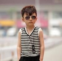 Free shipping Vintage fashion large sunglasses 100% anti-uv baby sunglasses glasses
