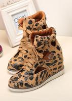 Jeffrey campbell2013 leopard print female sandals high wedges platform elevator sport shoes