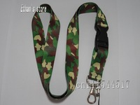 Free Shipping New arrival army camo key lanyard for collection
