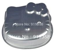 2015 Hello Kitty Shape Cake Pan Baking Mold Tin Cake Decoration Tools  Metal Baking Cake Pan Free Shipping