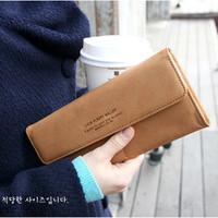 Free shipping Hot sale women's PU envelope clutch bag long leather Wallet Ladies designer Purse Checkbook Handbag