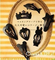 Fashion Jewelry 2012, Cartoon shape matt black paint hairpin side clip hair clip 20pcs/lot