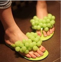 FREE SHIPPING,2013 HOT SALE,retail&wholesale women sandals,flat sandals,summer shoes,Grape slippers,multicolor,drop shipping