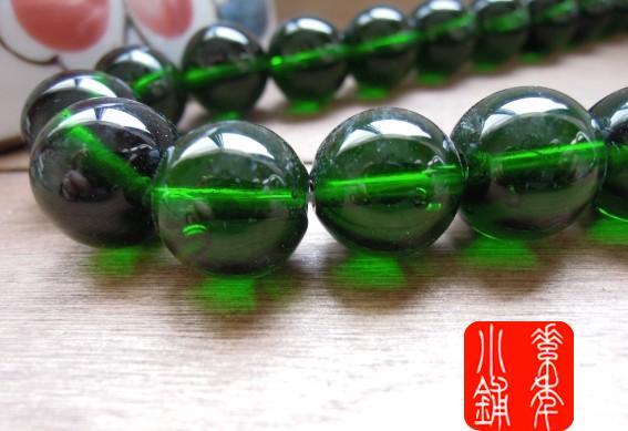 handmade luz contas escuras verde pavão verde esmalte colorido do grânulo 13-14mm(China (Mainland))