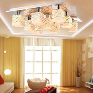 led modern brief glass ceiling light living room lights bedroom lamps
